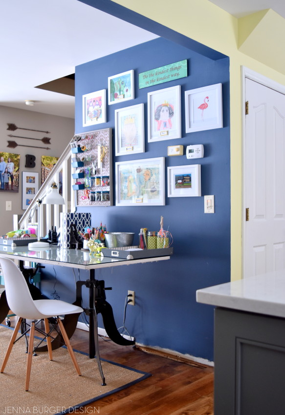 Kitchen Renovation: Choosing a paint color for an open concept floor plan + adding accents of wallpaper. Follow along on this before + after kitchen remodel @ www.JennaBurger.com