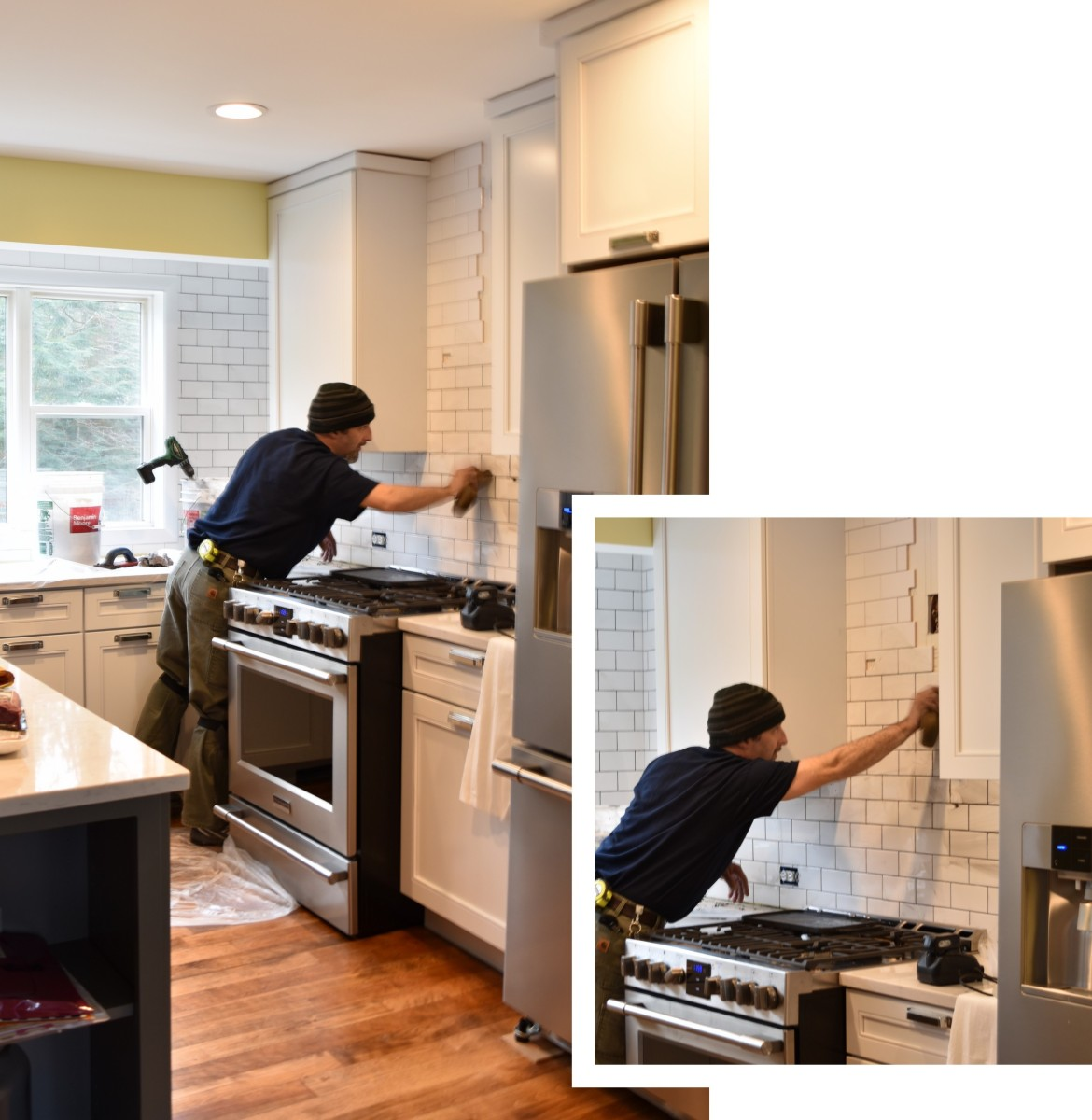 How do you choose the perfect kitchen tile backsplash? There are so many decisions. These are 12 ideal options for the kitchen backsplash and ONE is what I chose for my kitchen renovation. Click over to check them out + follow along on how I installed the tile > www.JennaBurger.com