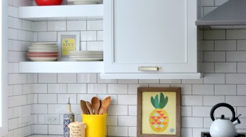 Subway Tile:  There are many styles + colors.  How do you choose the right subway tile for the project? Here are some tips that will help with the process + check out the before and after of the tile installation of our kitchen remodel.