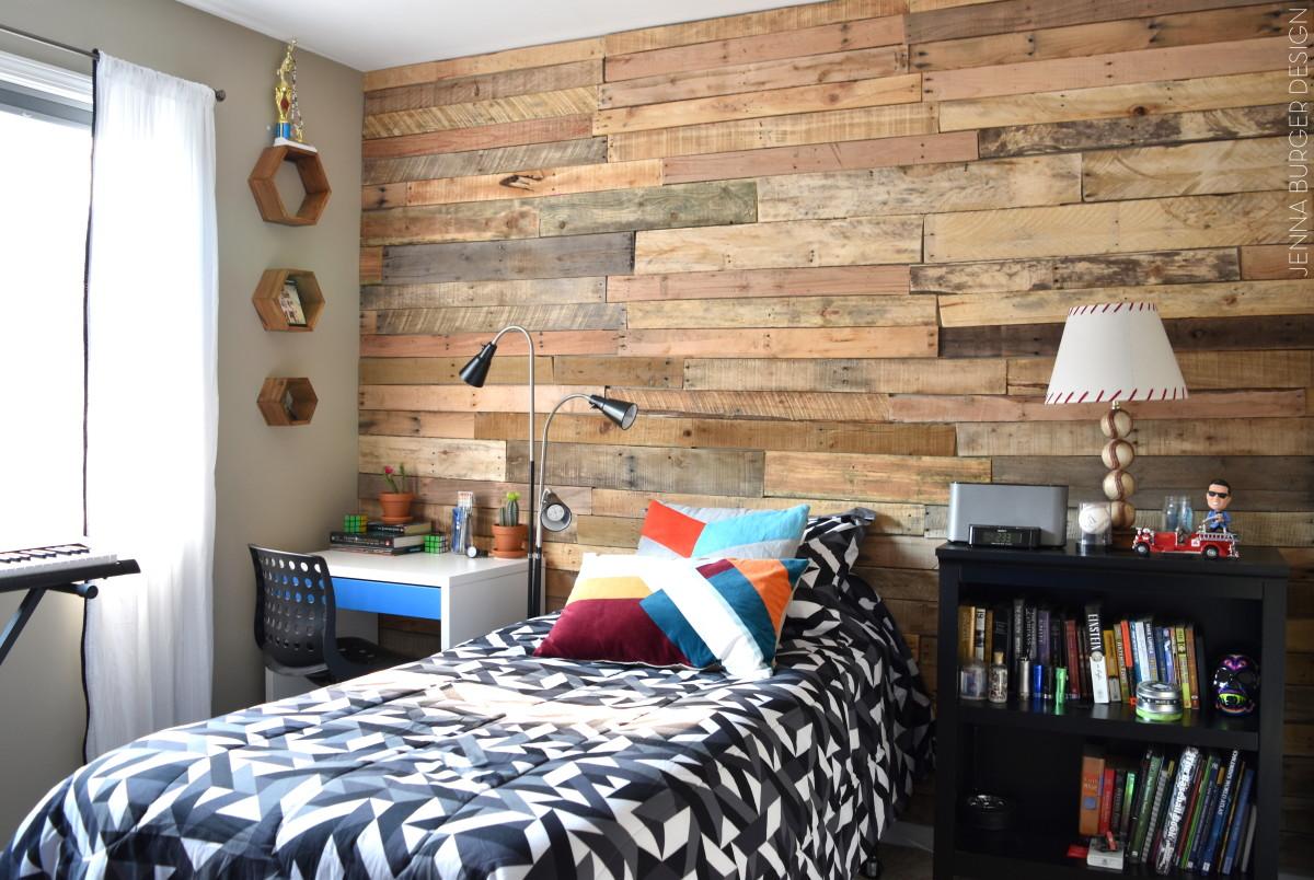 Modern, Rustic Teen Room + DIY Pallet Wall Tutorial ... on Pallet Room  id=37606