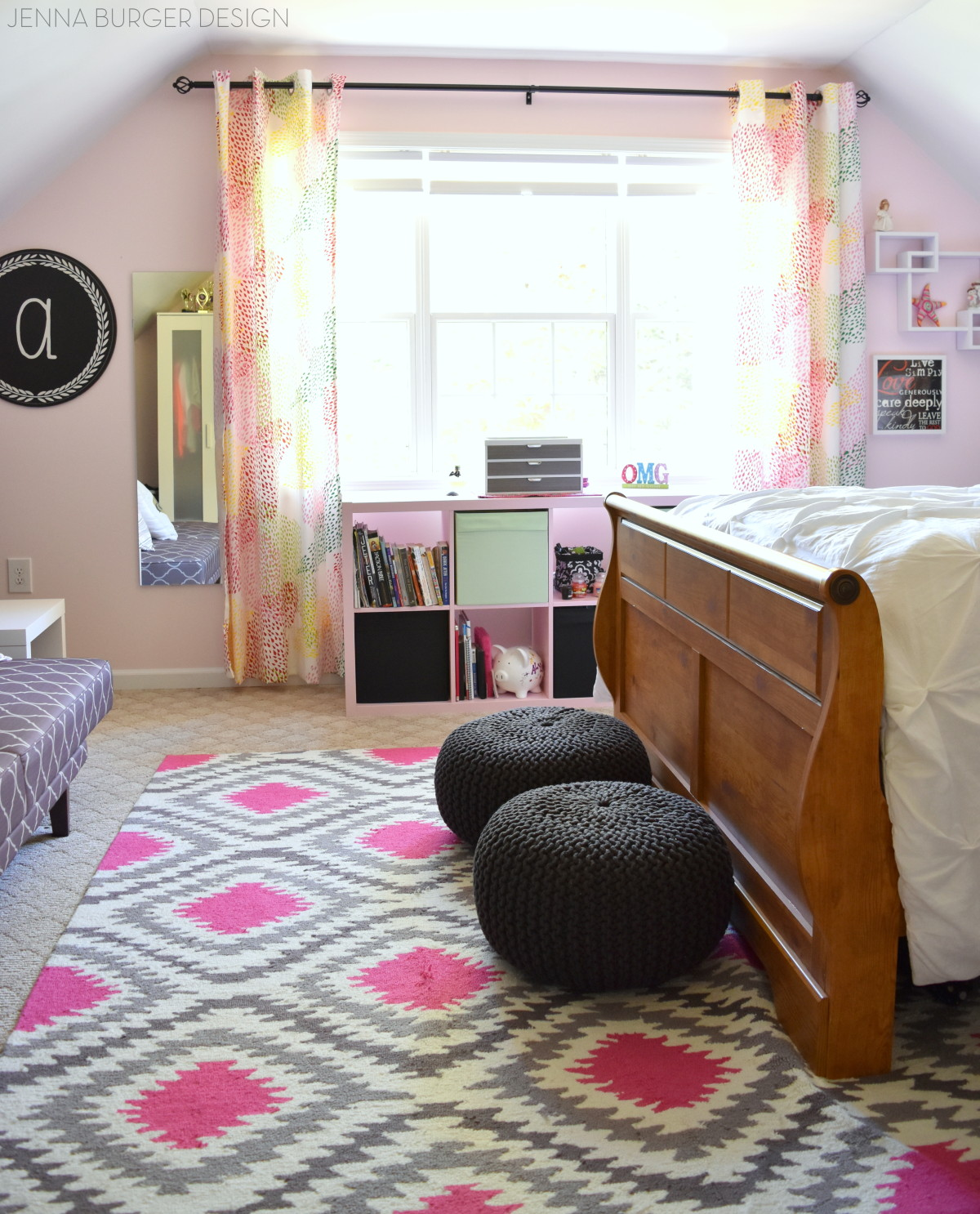pink charcoal bedroom makeover jenna burger teen bedroom makeover splashes of pink mixed with shades of gray a pop of