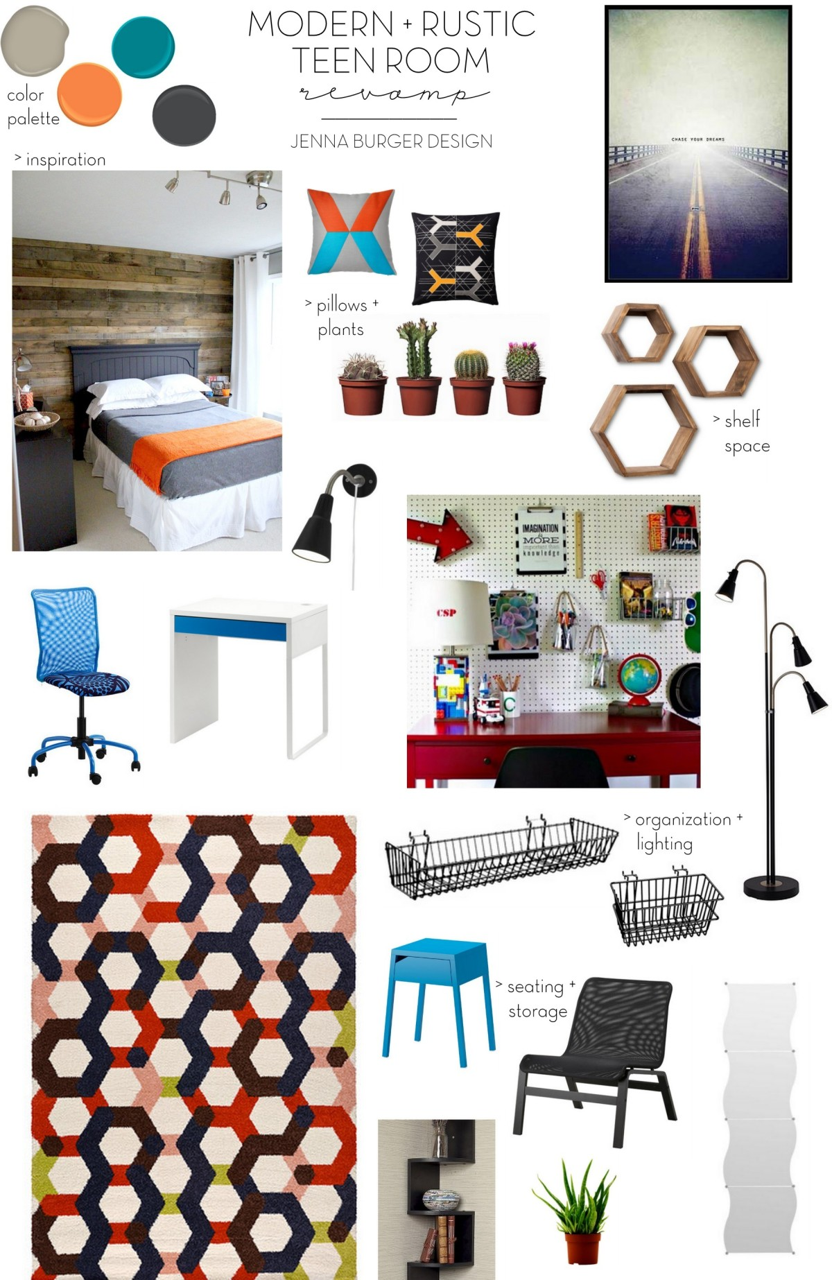 Modern Rustic Teen Room Diy Pallet Wall Tutorial Jenna Burger Design Llc