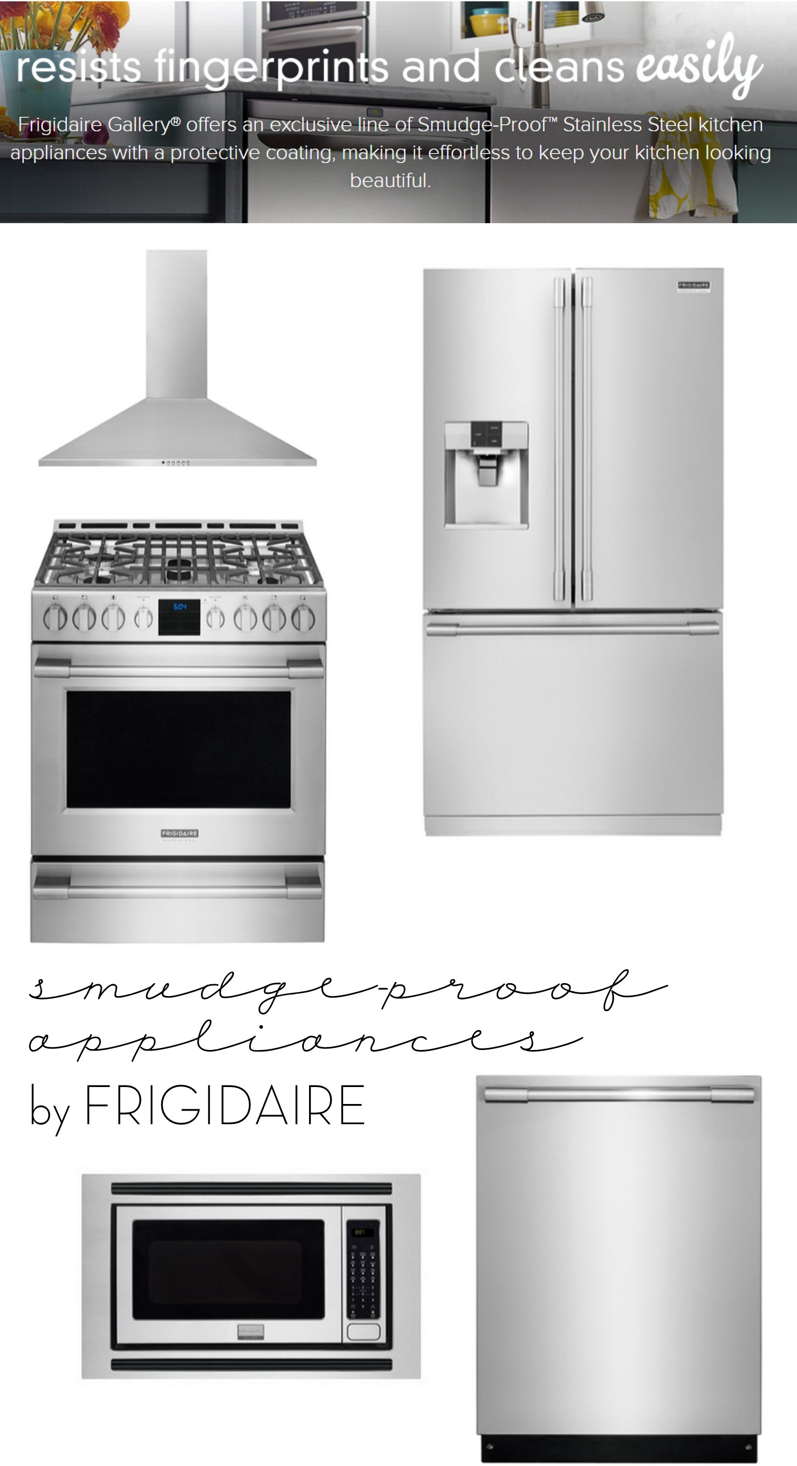 amazing Smudge Proof Stainless Steel Kitchen Appliances #1: Resist Fingerprints on your appliances with SMUDGE-PROOF stainless steel by  Frigidaire