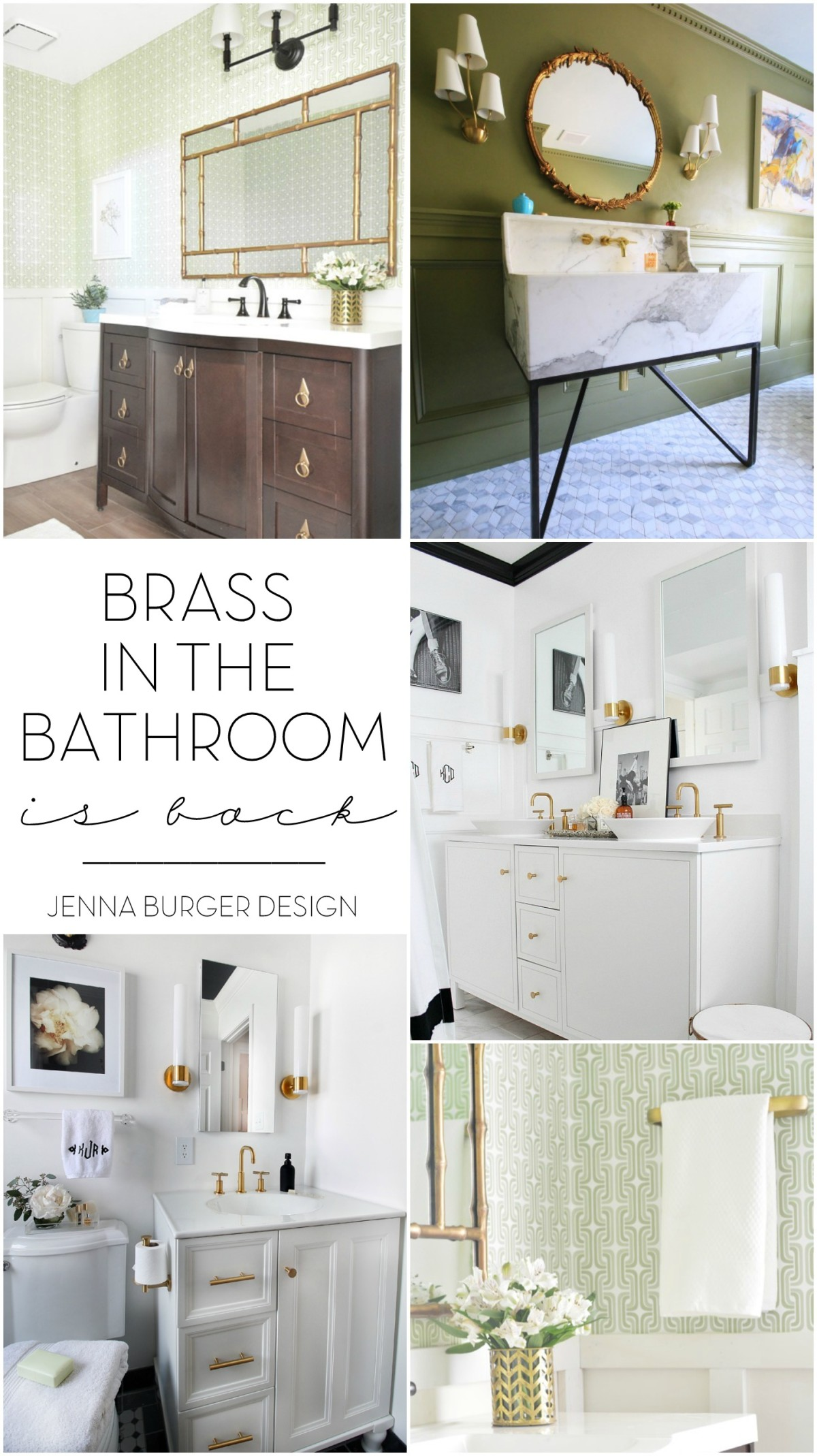 Amazing Brass In The Bathroom Is BACK! From Vintage To Modern, Brass Has Been Given