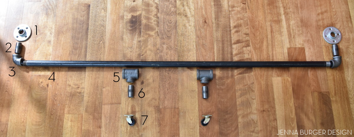 Diy Rolling Door Hardware Using Plumbing Pipe Jenna Burger