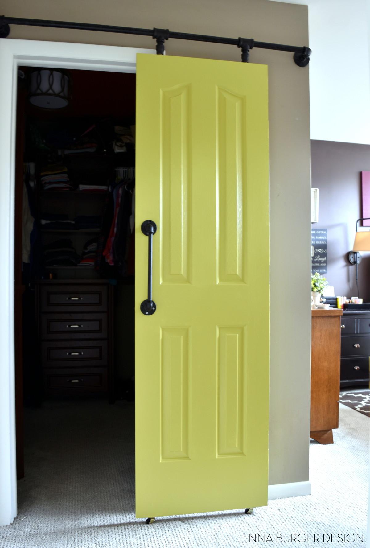 Diy Rolling Door Hardware Using Plumbing Pipe Jenna Burger