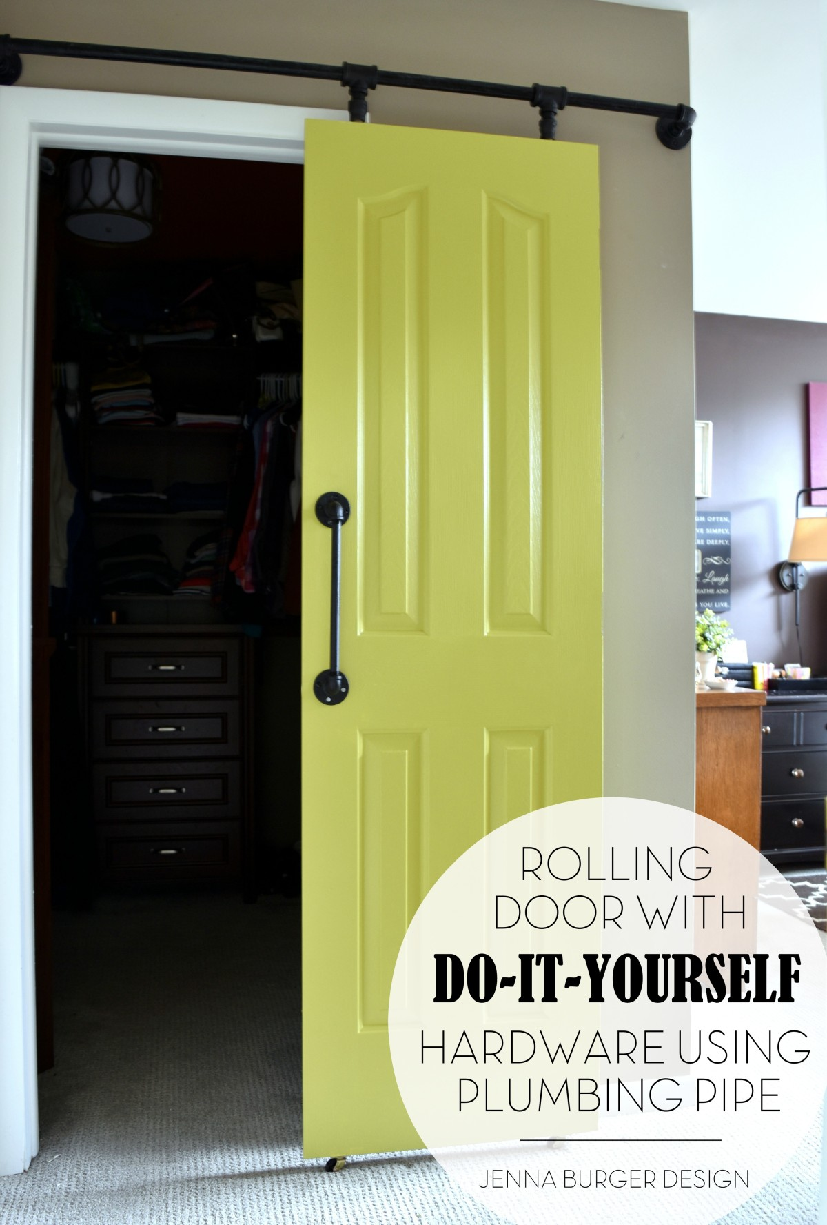 DIY Rolling door hardware using plumbing pipe. Get the look + function of a : door fit - pezcame.com