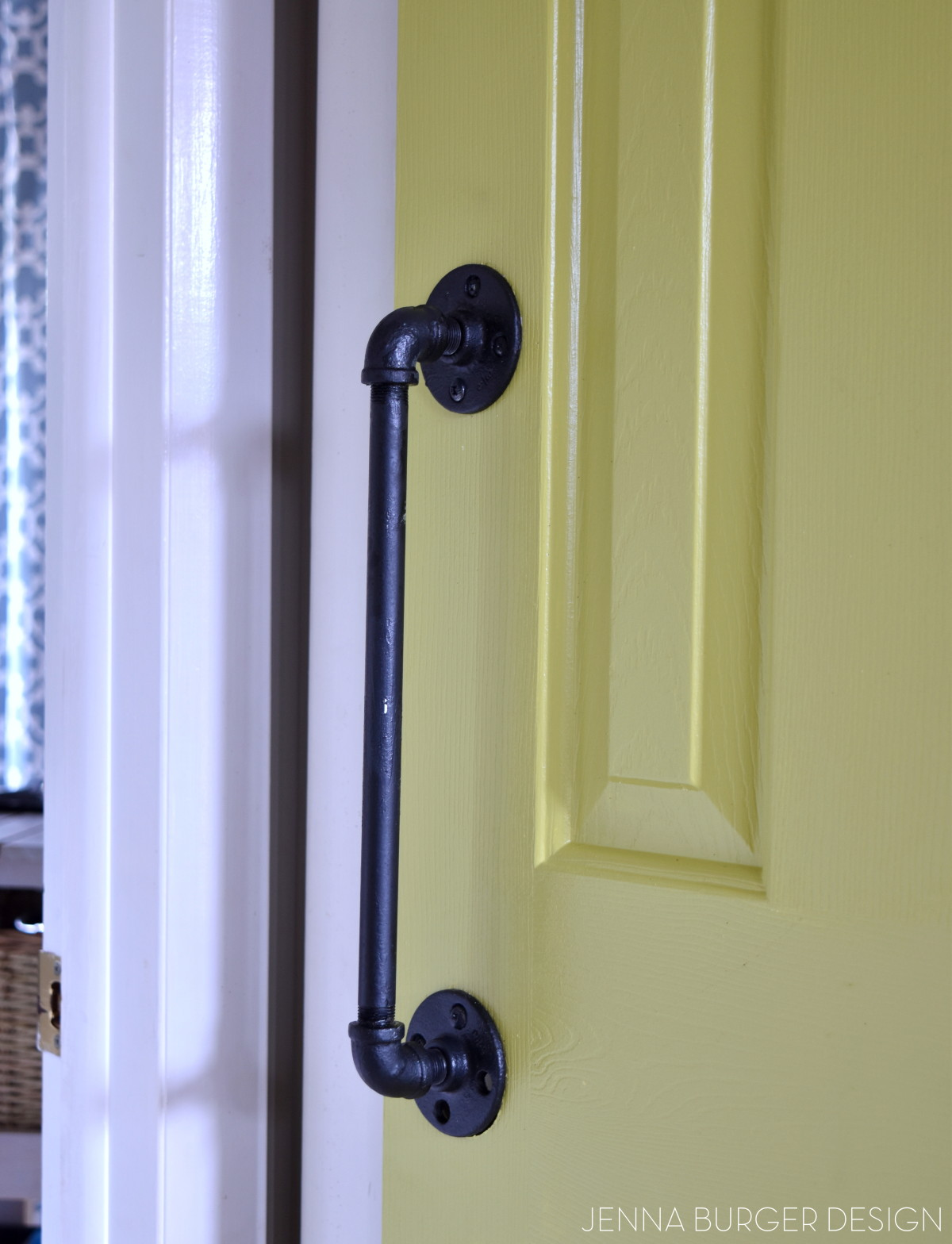 DIY Rolling Door Hardware using Plumbing Pipe - Jenna Burger