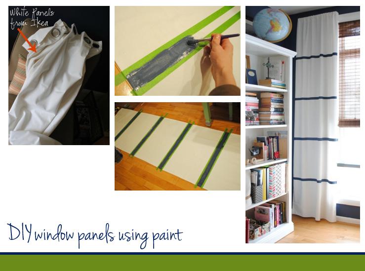 DIY idea for designer-looking curtain panels