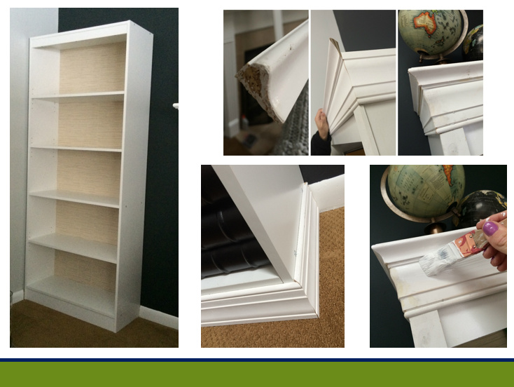 Steps for DIY built-in laminate bookcases getting the high-end look for less