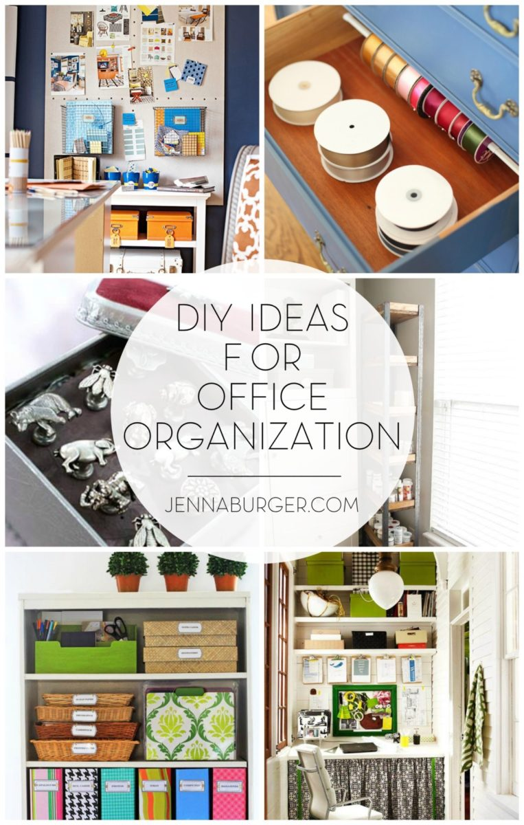 DO-IT-YOURSELF creations for get the office ORGANIZED. Not-to-be-missed creative ideas by www.JennaBurger.com