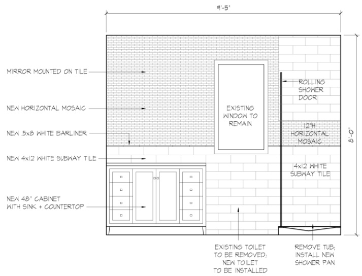 Bathroom Elevation