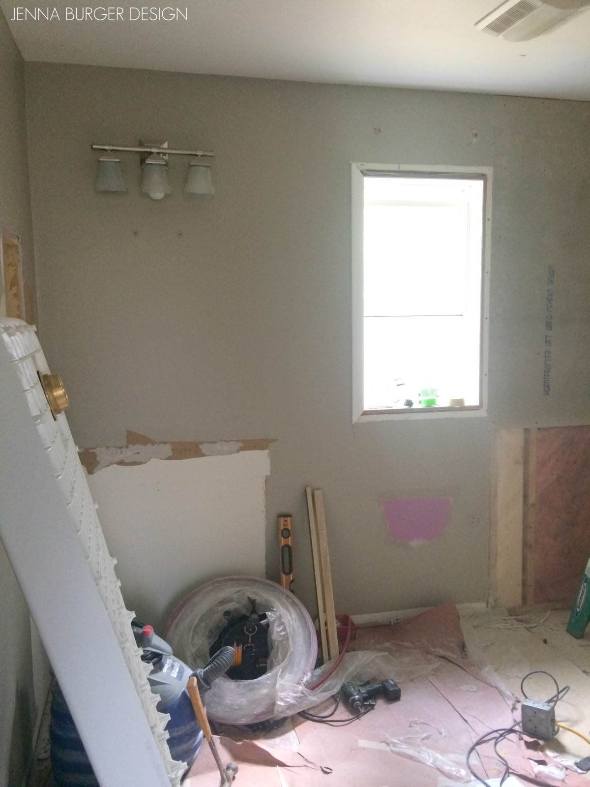 Master bathroom renovation demo jenna burger for How to demo a bathroom