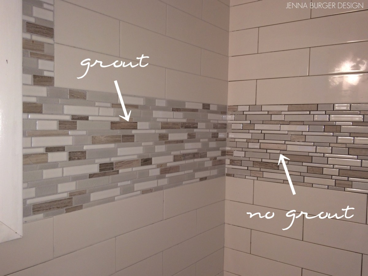 Master bathroom renovation tile grout jenna burger for Bathroom floors without grout