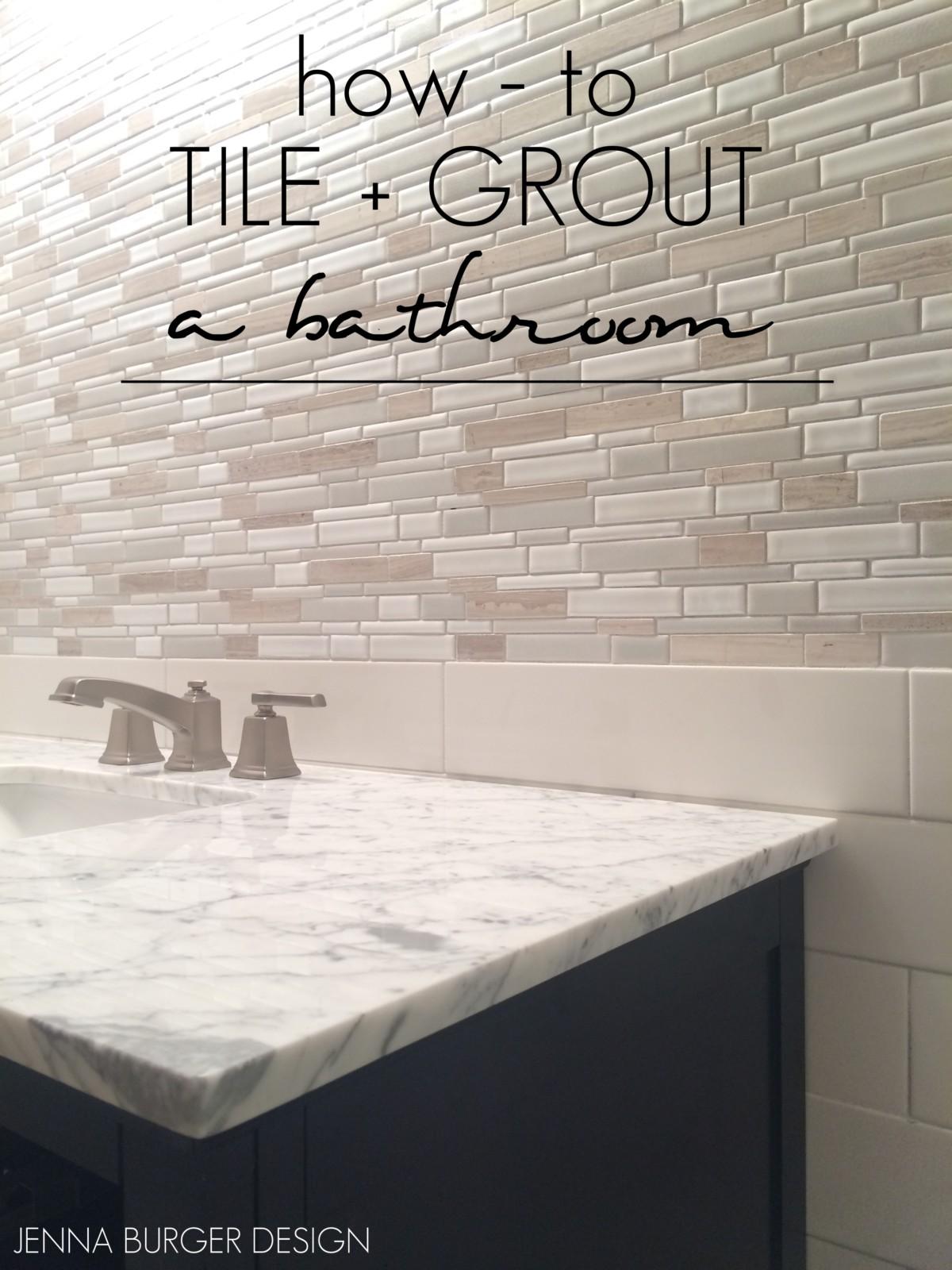 Master Bathroom Renovation: Tile + Grout