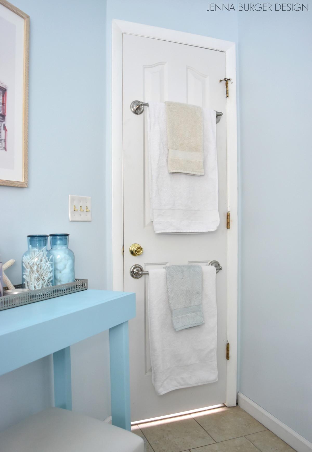 Bathroom Towel Bar: Back-of-the-Door Towel Bar