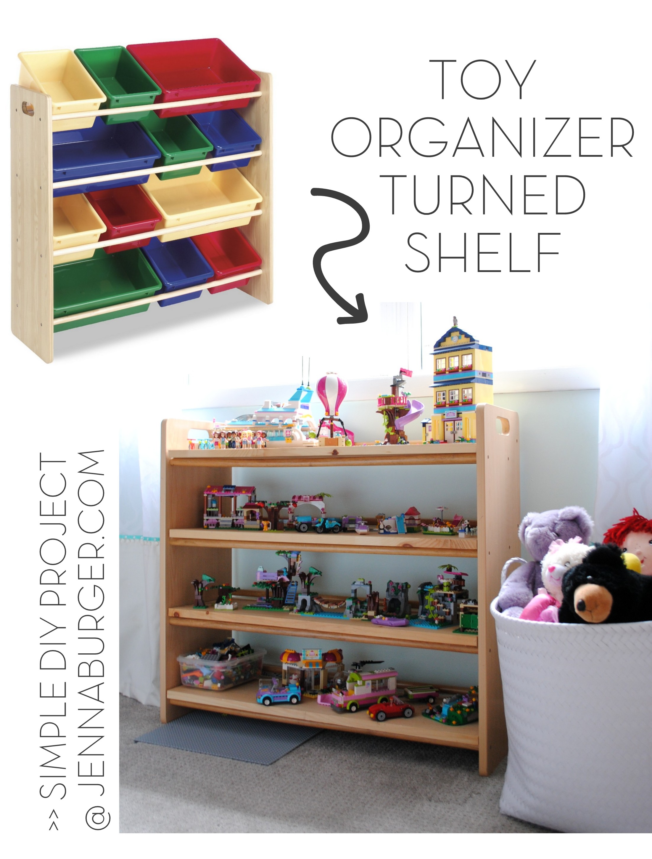 how i organize kids toys jenna burger