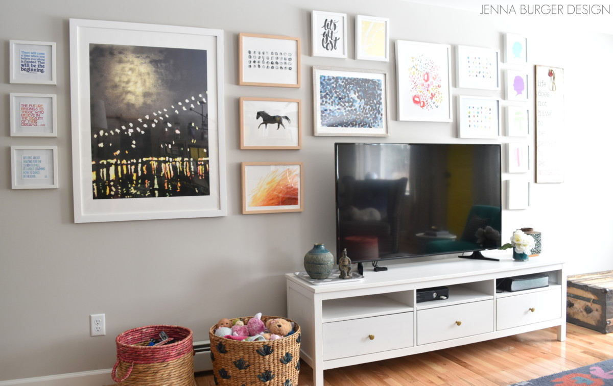 Creating a cohesive color palette jenna burger for Living room zones