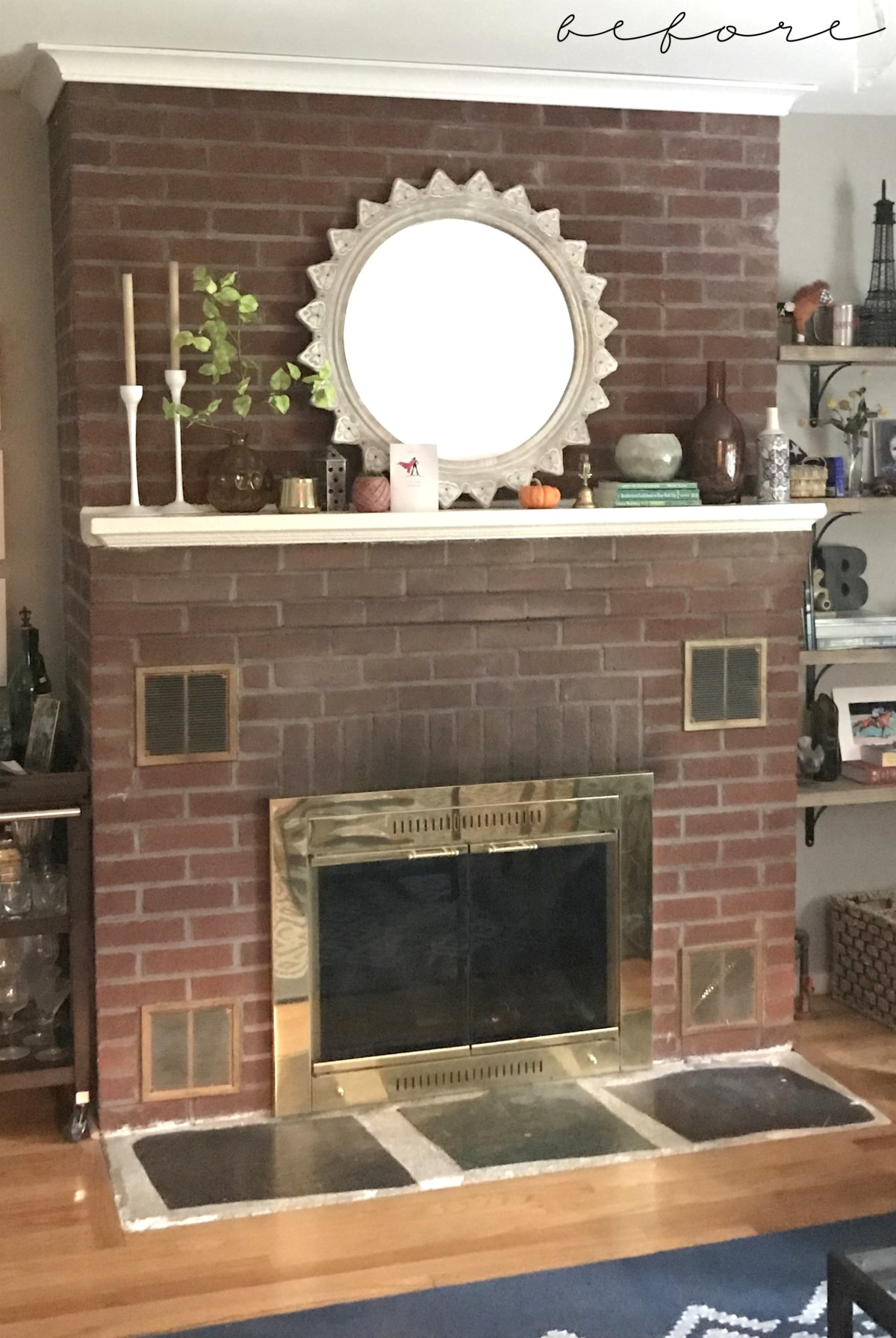Painted Fireplace Wall