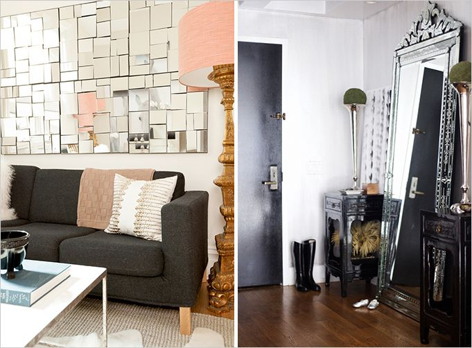 MIRRORS! Ideas + Inspiration + Fabulous Finds for decorating with